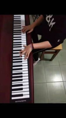 88 Keys Electronic Roll up Piano Keyboard photo review