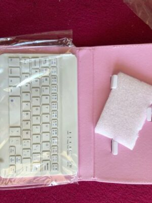 Wireless Bluetooth Keyboard With Leather photo review